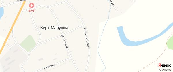 Улица Димитрова на карте села Верха-Марушки с номерами домов