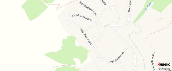 Переулок Урицкого на карте Целинного села с номерами домов