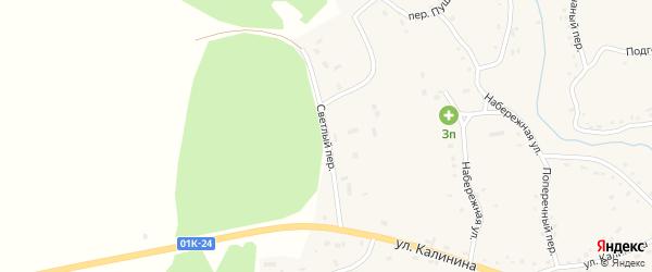 Светлый переулок на карте Целинного села с номерами домов