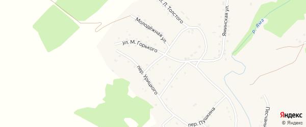 Улица М.Горького на карте Целинного села с номерами домов