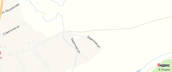 Заречная улица на карте села Верха-Марушки с номерами домов
