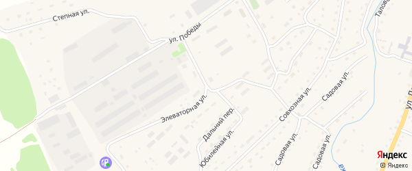 Элеваторная улица на карте Целинного села с номерами домов