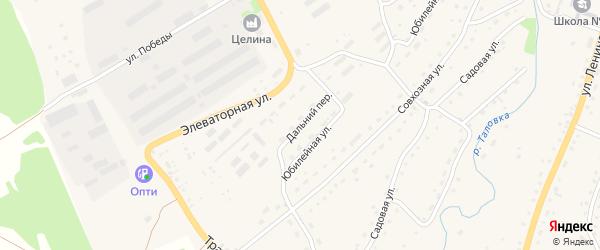Дальний переулок на карте Целинного села с номерами домов