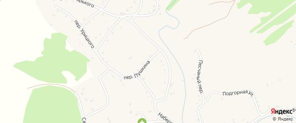 Переулок Пушкина на карте Целинного села с номерами домов