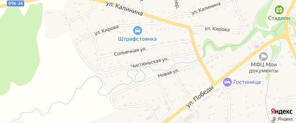 Чистюньская улица на карте Целинного села с номерами домов