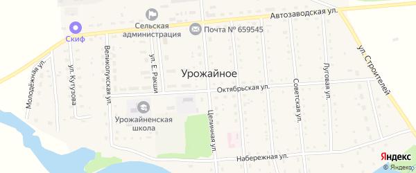 Целинная улица на карте Урожайного села с номерами домов