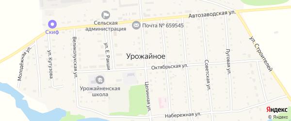 Улица А.Борисенко на карте Урожайного села с номерами домов