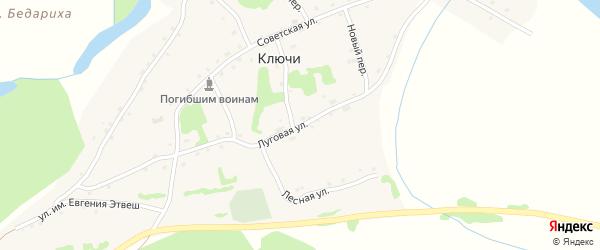 Луговая улица на карте села Ключи с номерами домов