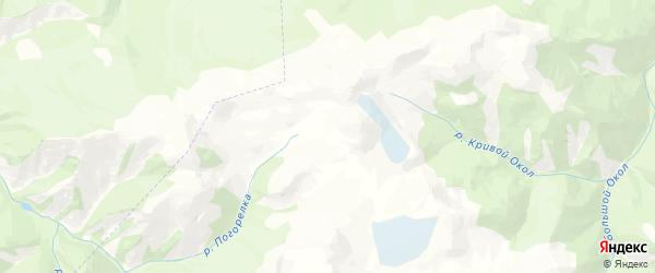 Карта Карагайского сельского поселения республики Алтай с районами, улицами и номерами домов