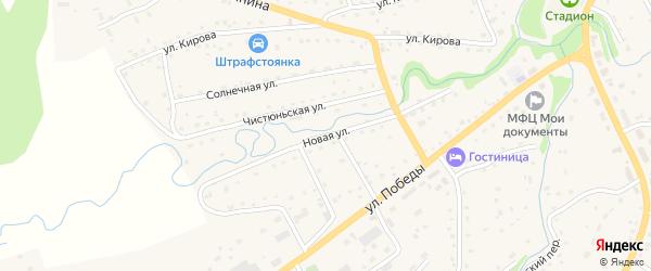 Новая улица на карте Целинного села с номерами домов