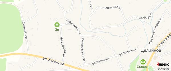 Набережная улица на карте Целинного села с номерами домов