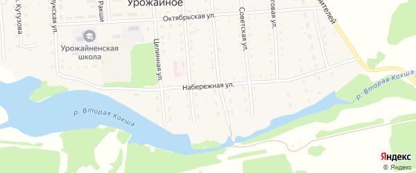 Набережная улица на карте Урожайного села с номерами домов