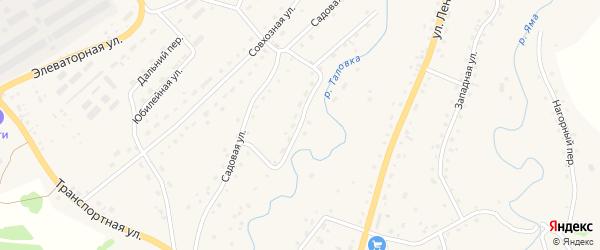 Садовая улица на карте Целинного села с номерами домов