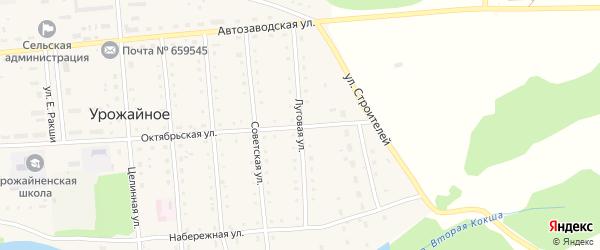 Луговая улица на карте Урожайного села с номерами домов