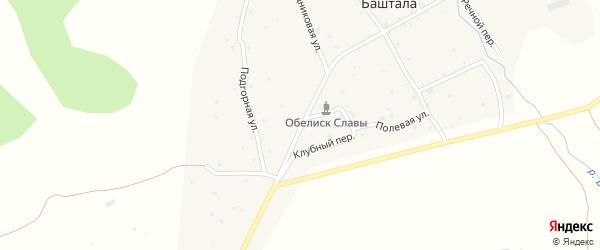 Центральная улица на карте села Башталы с номерами домов