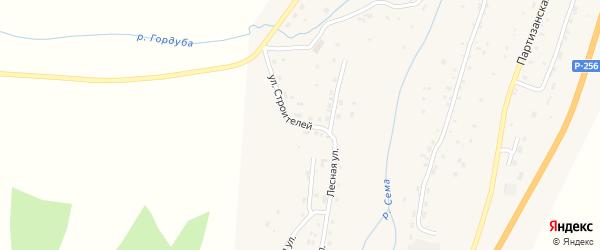 Улица Строителей на карте села Шебалино с номерами домов