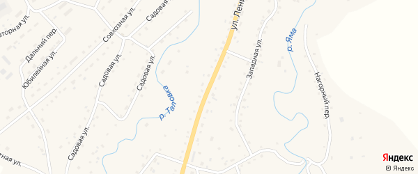 Улица Ленина на карте Целинного села с номерами домов