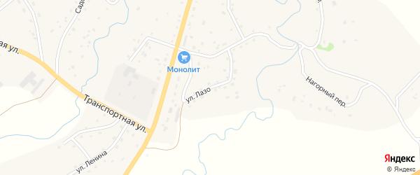 Улица Лазо на карте Целинного села с номерами домов