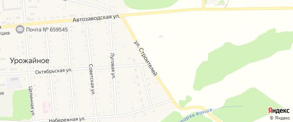 Улица Строителей на карте Урожайного села с номерами домов