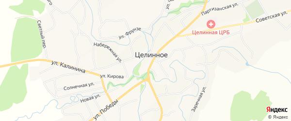 Карта Целинного села в Алтайском крае с улицами и номерами домов