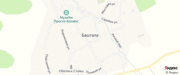 Солнечная улица на карте села Башталы с номерами домов
