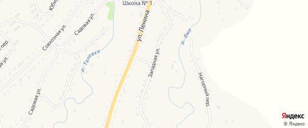 Западная улица на карте Целинного села с номерами домов