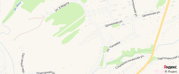 Октябрьский переулок на карте Целинного села с номерами домов