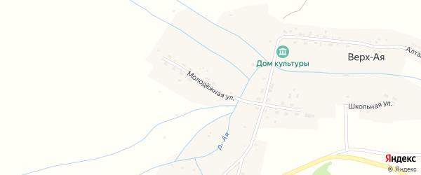 Молодежная улица на карте села Верха-Ая с номерами домов