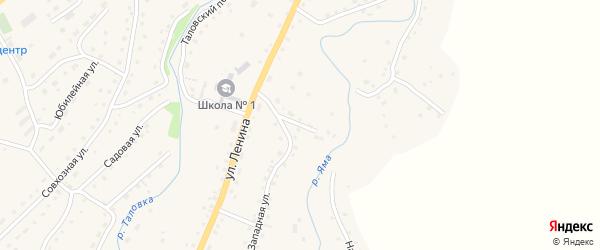 Трактовый переулок на карте Целинного села с номерами домов