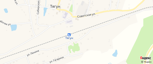 Верхне-Заречная улица на карте станции Тягуна с номерами домов
