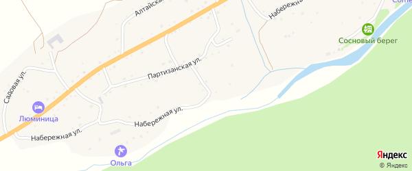 Набережная улица на карте села Камлака с номерами домов