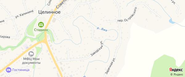 Заводская улица на карте Целинного села с номерами домов