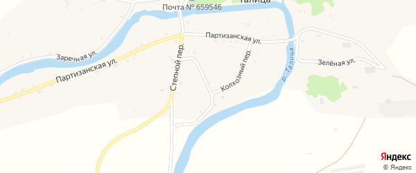 Колхозный переулок на карте села Талицы с номерами домов