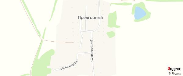 Центральная улица на карте Предгорного поселка с номерами домов