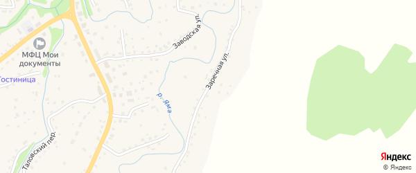 Заречная улица на карте Целинного села с номерами домов