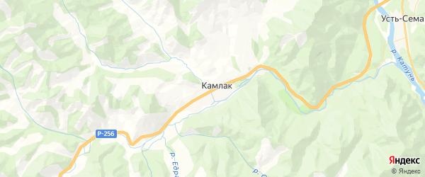 Карта Камлакского сельского поселения республики Алтай с районами, улицами и номерами домов