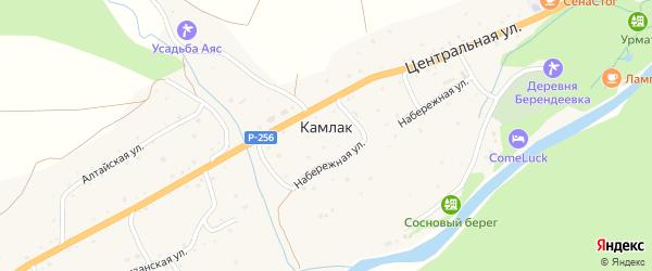 Партизанская улица на карте села Камлака с номерами домов