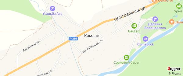 Садовая улица на карте села Камлака с номерами домов