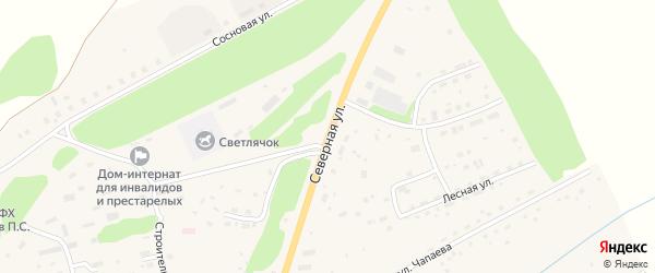Северная улица на карте Целинного села с номерами домов