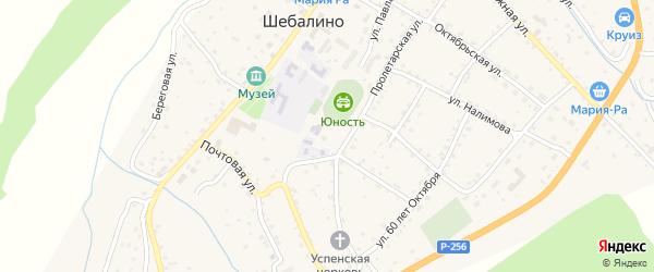 Подгорная улица на карте села Шебалино с номерами домов