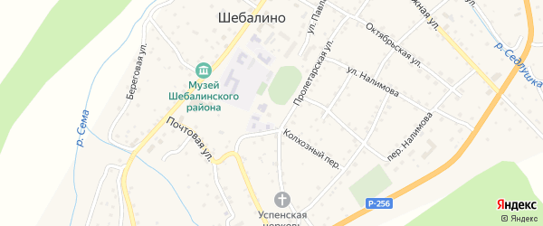 Нагорная улица на карте села Шебалино с номерами домов