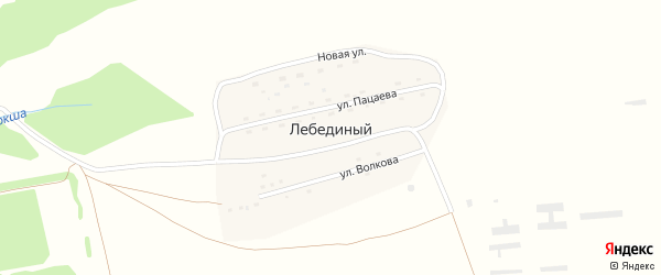 Улица Волкова на карте Лебединого поселка с номерами домов