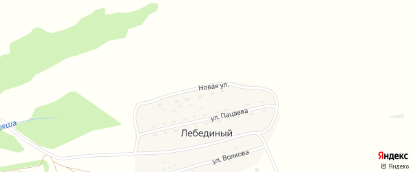 Новая улица на карте Лебединого поселка с номерами домов
