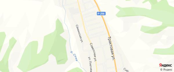 Территория Земельный участок под строительство на карте Советской улицы с номерами домов