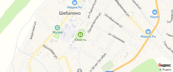 Пролетарская улица на карте села Шебалино с номерами домов