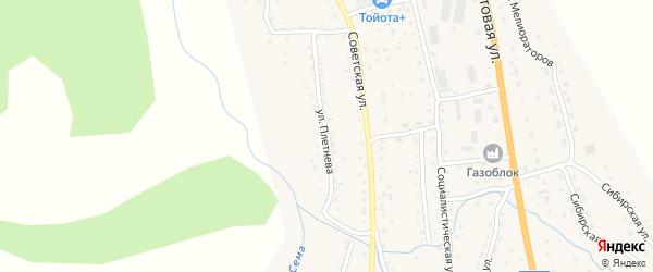 Улица Плетнева на карте села Шебалино с номерами домов
