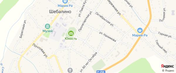 Заводской переулок на карте села Шебалино с номерами домов