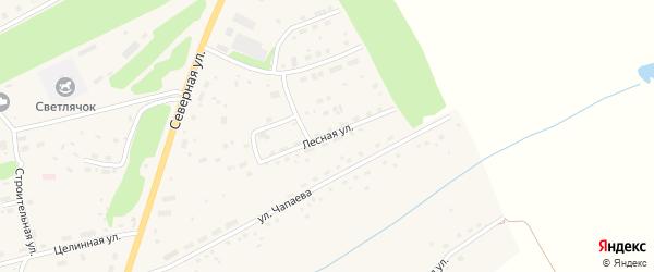 Лесная улица на карте Целинного села с номерами домов