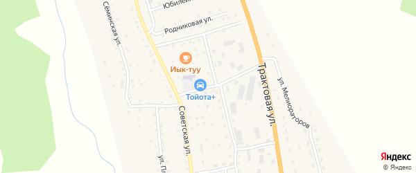 Улица Кооператоров на карте села Шебалино с номерами домов