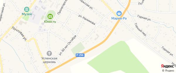 Переулок Налимова на карте села Шебалино с номерами домов